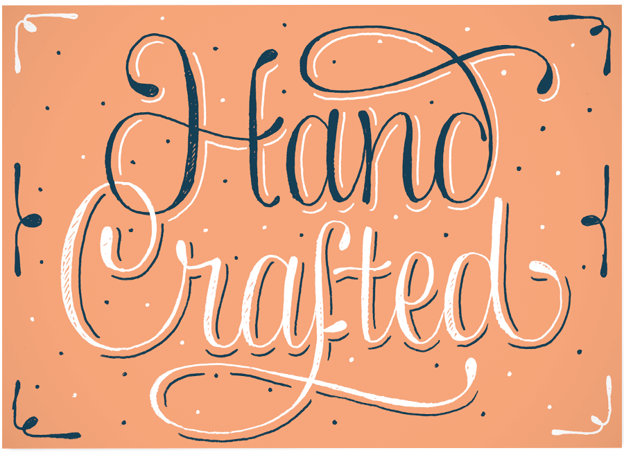 Hand crafted letter collections for Handcrafted or hand crafted